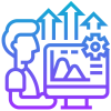 Por meio de Indicadores de Desempenho aplicamos ferramentas de monitoramento que permitem avaliar e medir a performance da empresa no que se refere à sua produtividade e à busca de seus objetivos, tudo de forma devidamente estruturada e planejada.